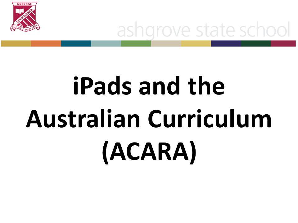 iPads and the Australian Curriculum (ACARA)