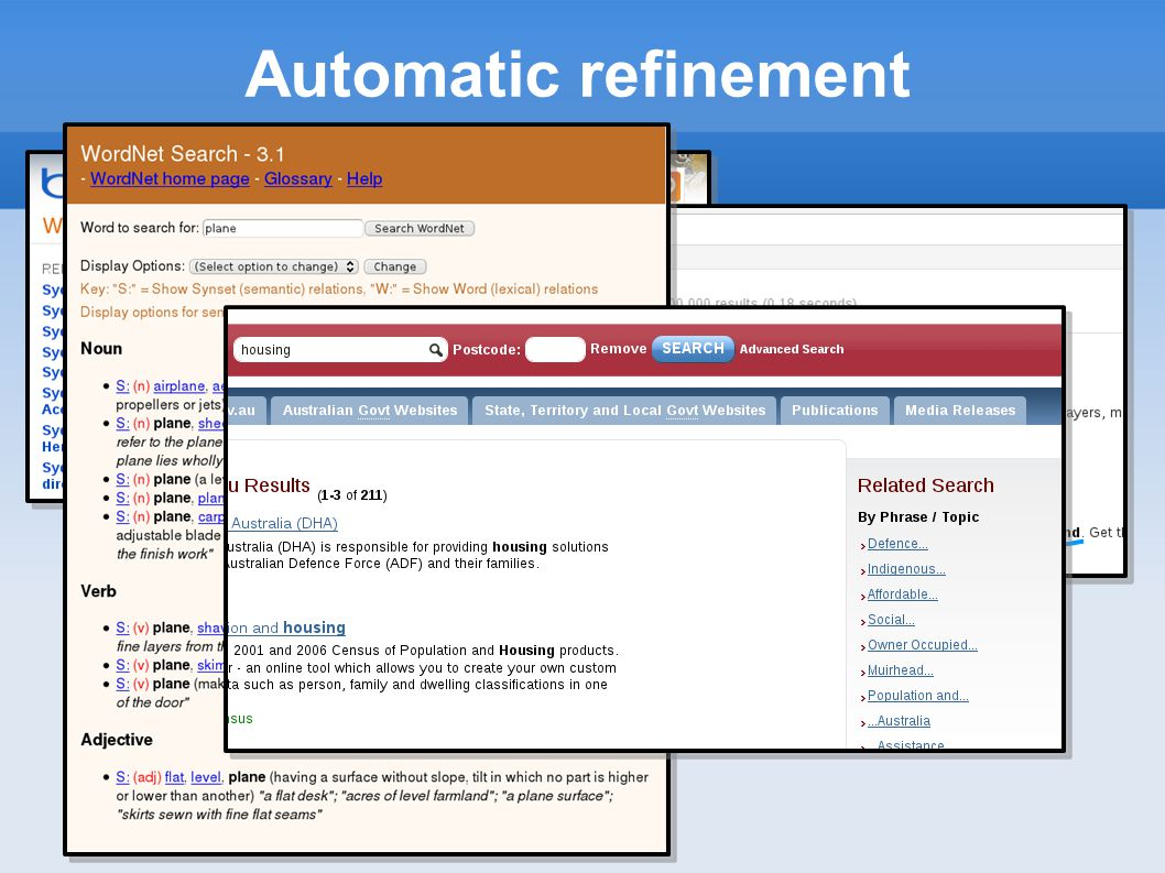 Relevance feedback Assume that relevant documents have something in common.