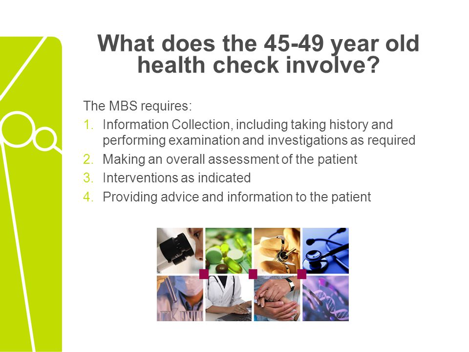Who can help with a health check.And How.