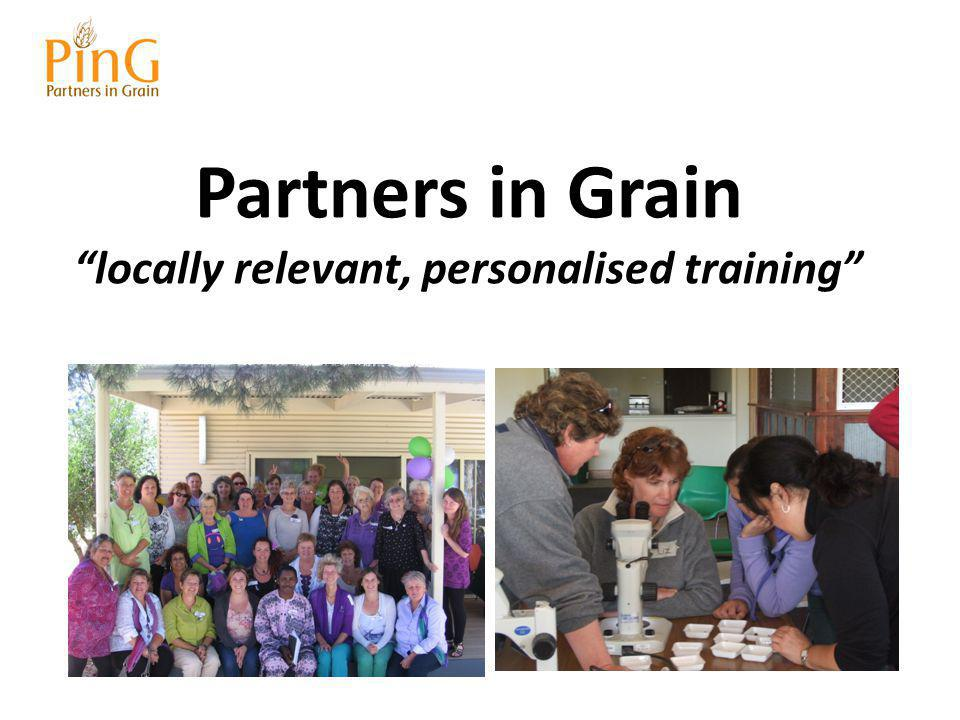 How PinG Collaborates Partners in Grain Local groups PinG works with Funding organisations Professionals Community Organisations Farming Systems Groups
