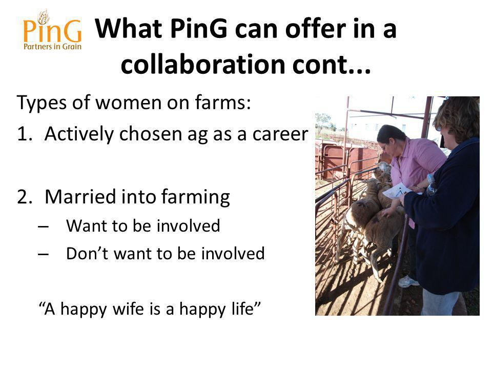 What PinG can offer in a collaboration cont...