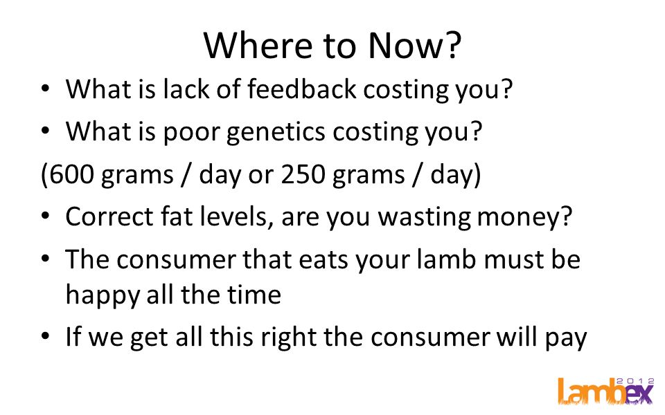 Where to Now. What is lack of feedback costing you.