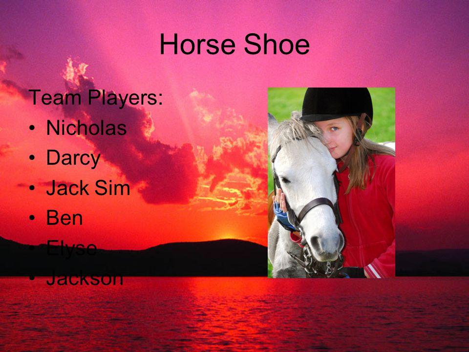 Horse Shoe Team Players: Nicholas Darcy Jack Sim Ben Elyse Jackson
