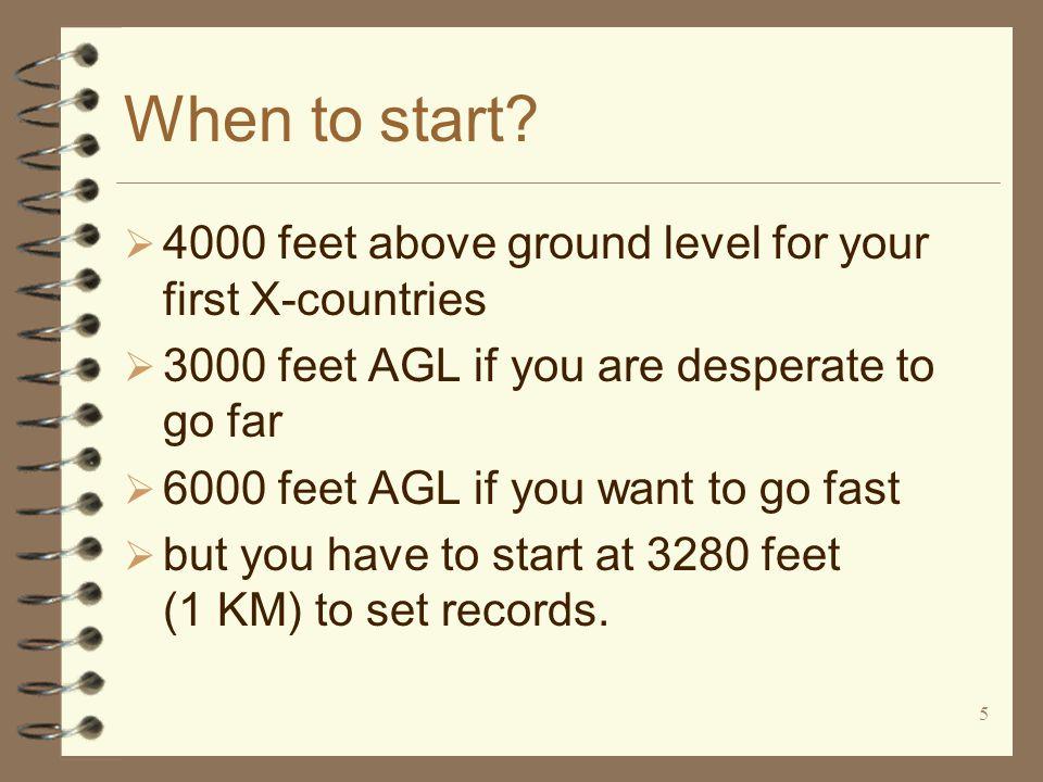 5 When to start.