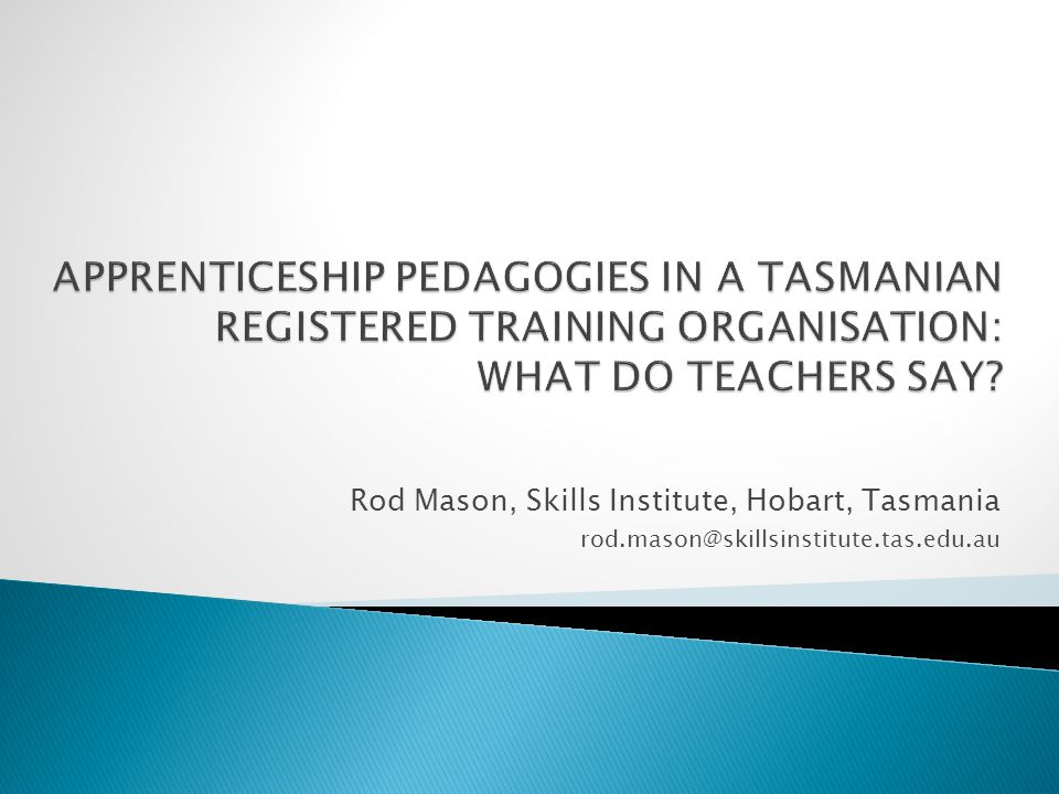  This presentation: ◦ Part of an exploratory research study that was undertaken in 2011.