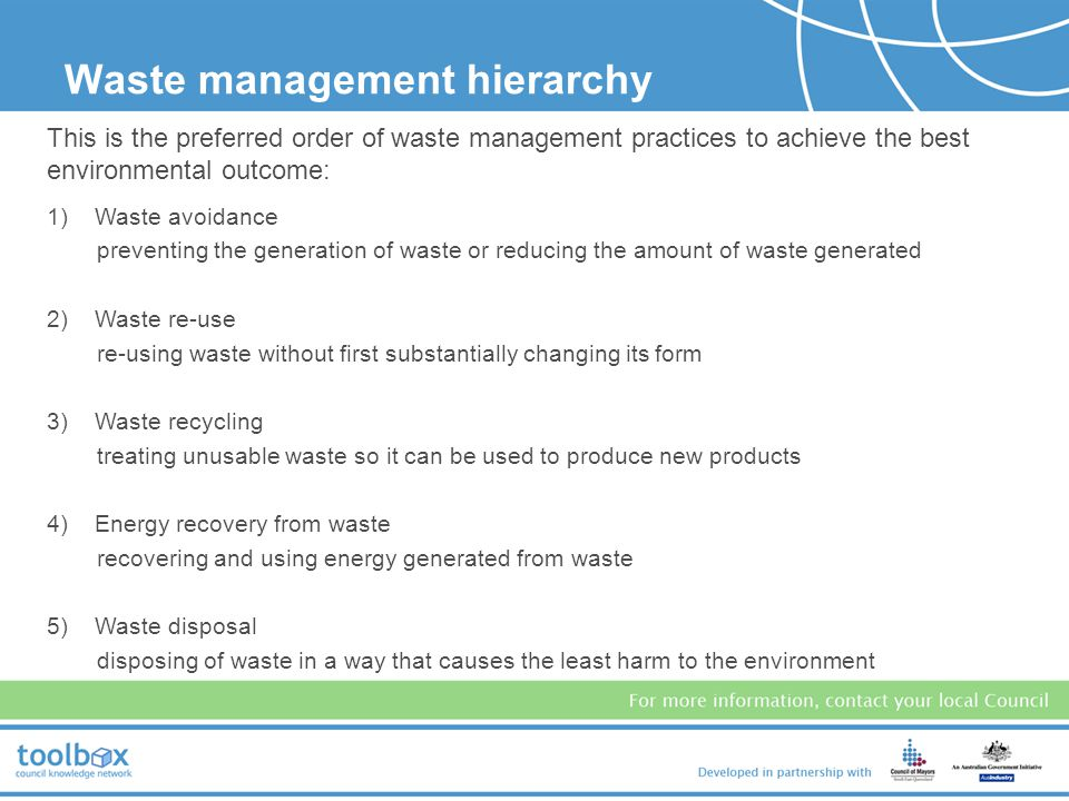 It is important for the health of: people ecosystems, and land (quality & useability). Why is waste management important?