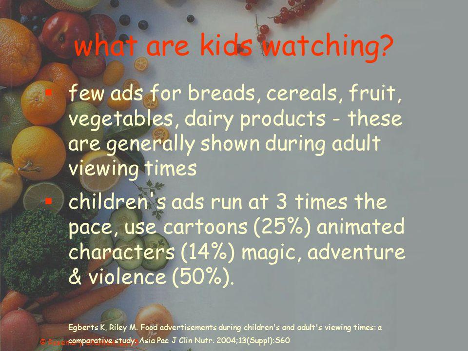 © Rosemary Stanton 2005 what are kids watching.