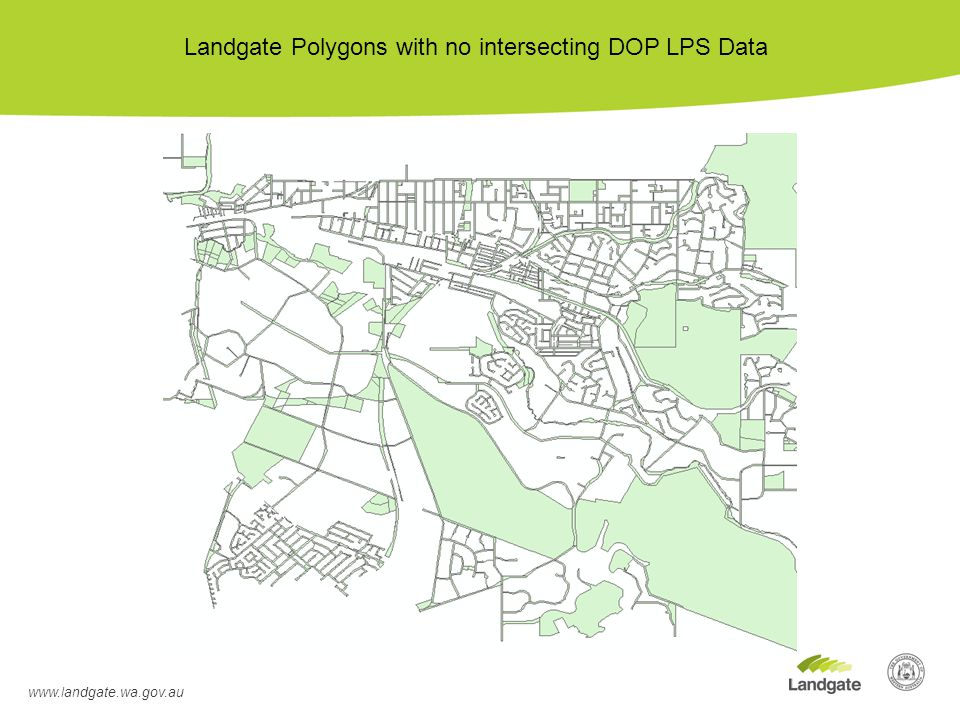 Landgate Polygons with no intersecting DOP LPS Data