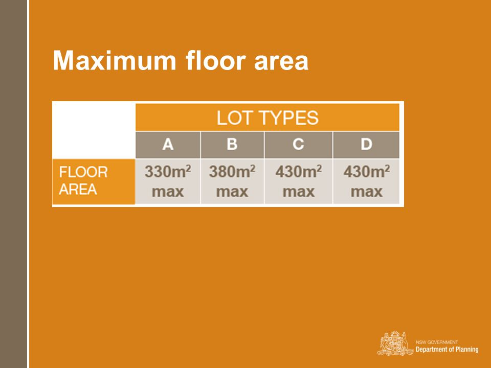 Maximum floor area