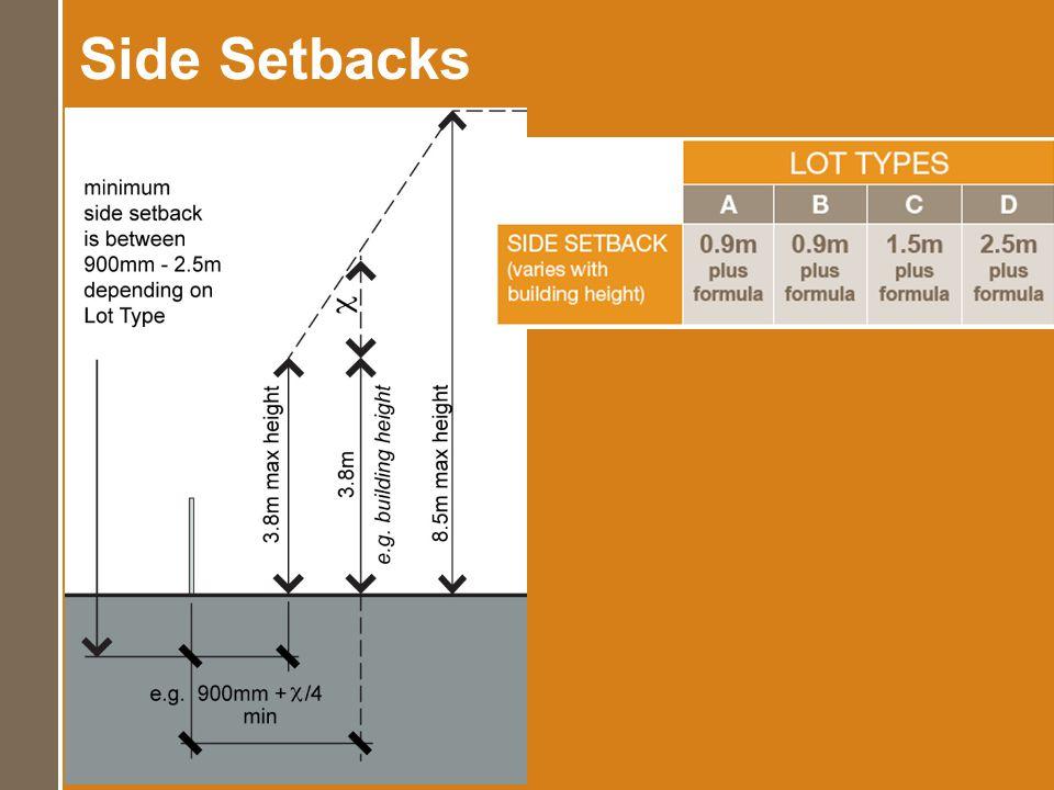 Side Setbacks