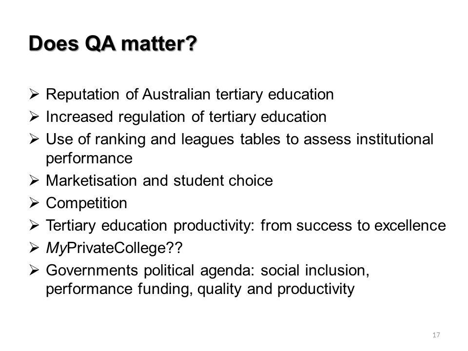 Does QA matter.