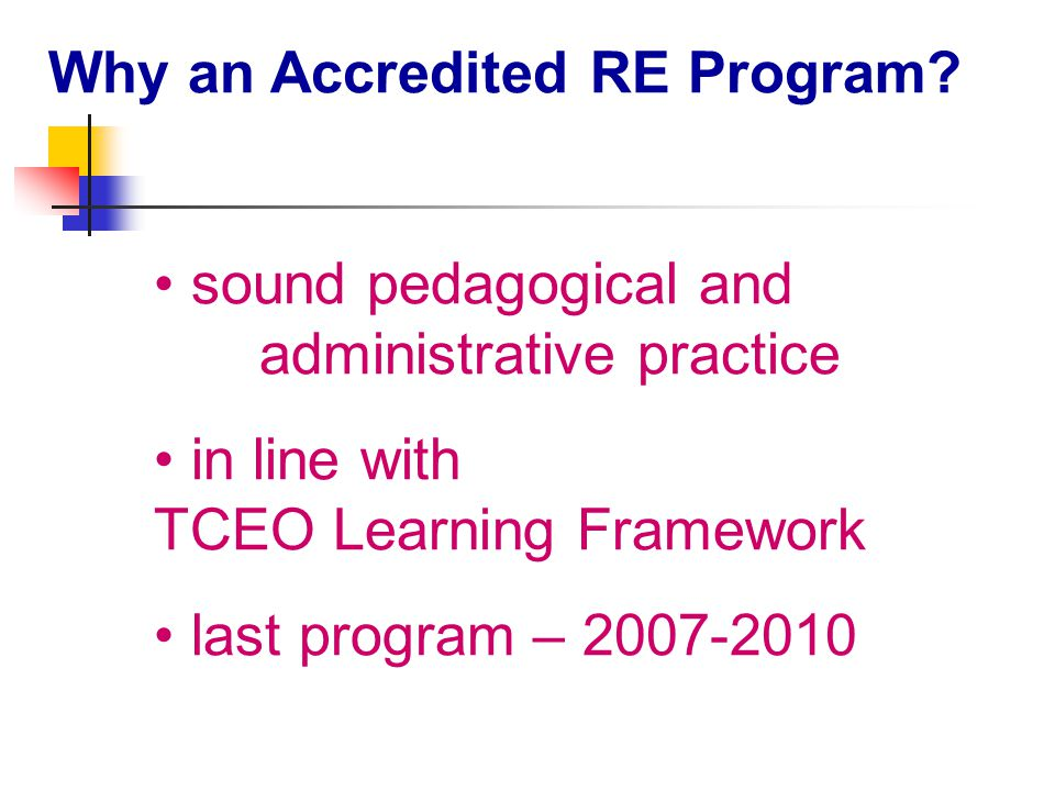 Reporting & Assessment - Secondary Secondary how is RE assessed – Junior program (ELS); Senior program (criteria-based).