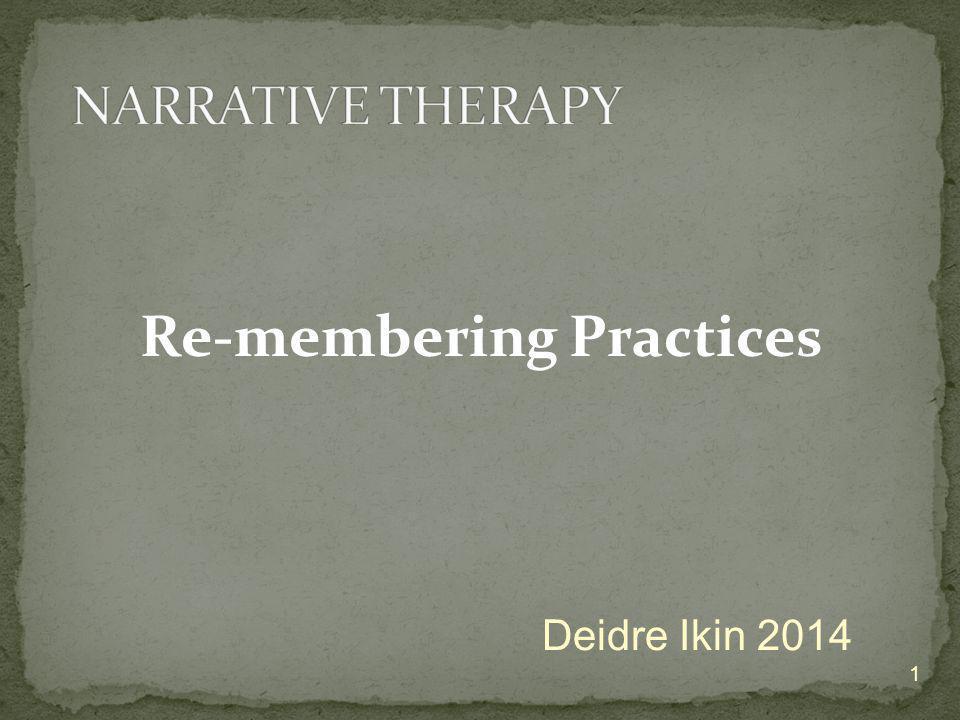 Re-membering Practices 1 Deidre Ikin 2014
