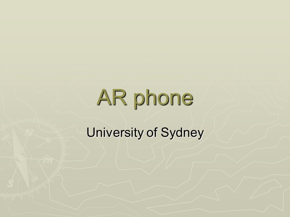 AR phone University of Sydney
