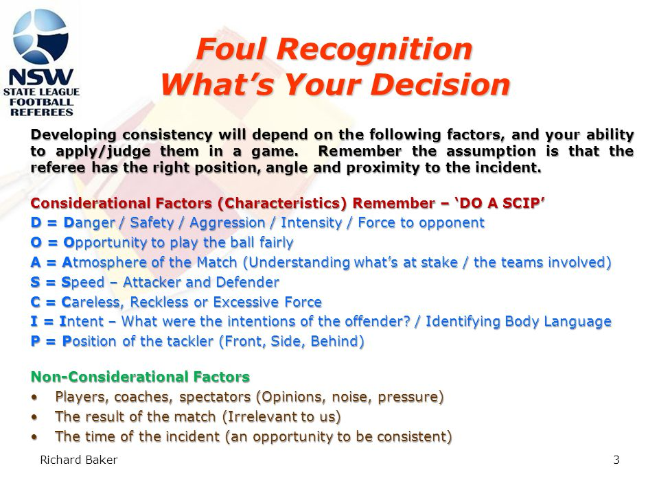 2 Referee's Decision Making Process