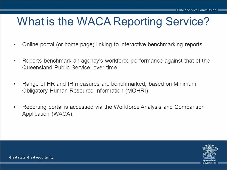 What is the WACA Reporting Service.