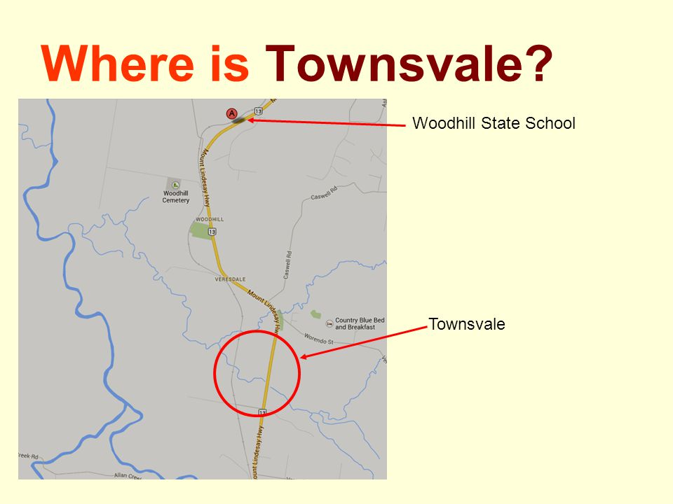 Where is Townsvale? Woodhill State School Townsvale