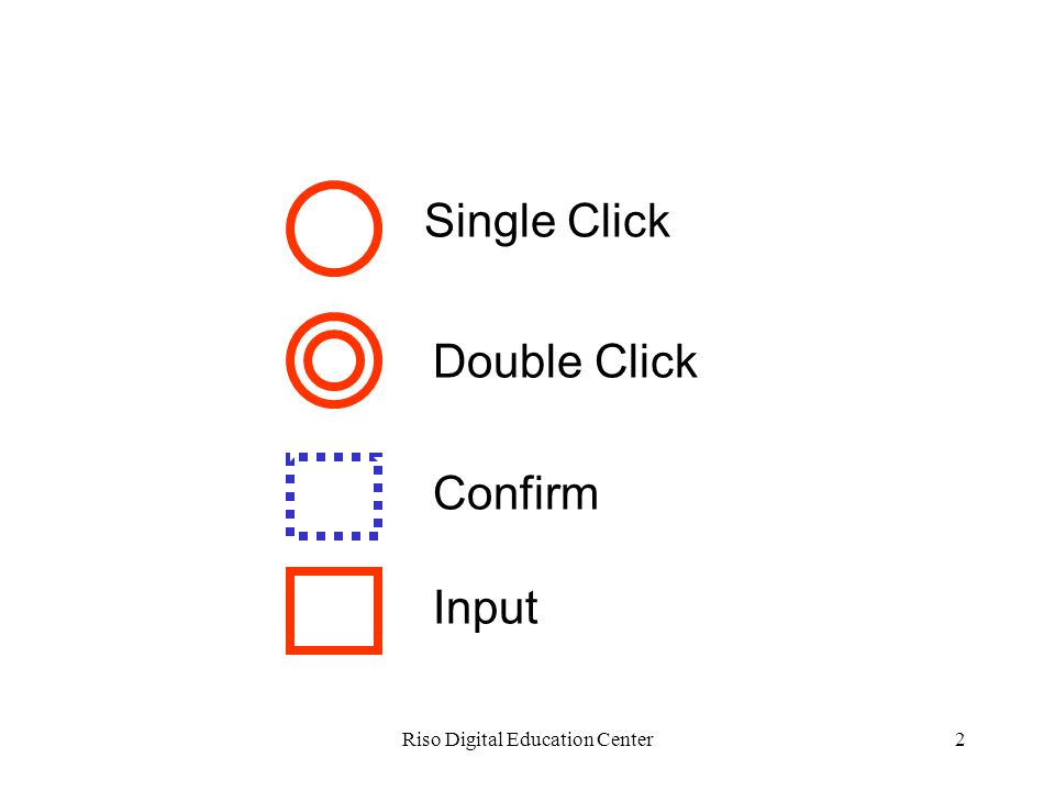 Riso Digital Education Center2 Single Click Double Click Confirm Input