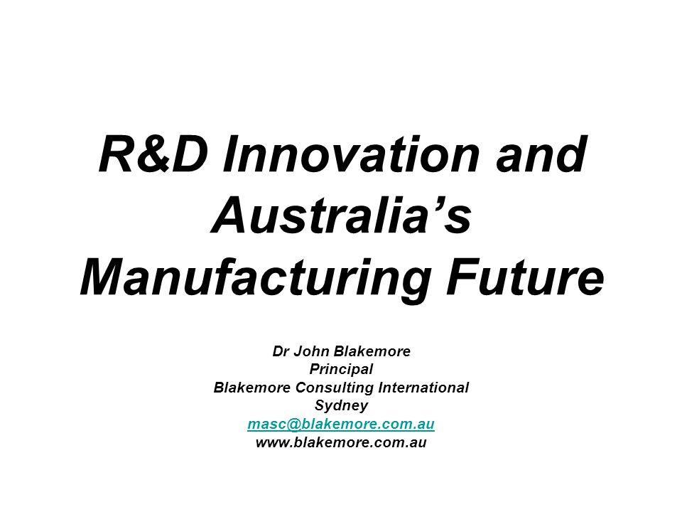Australian Manufacturing Has a Problem