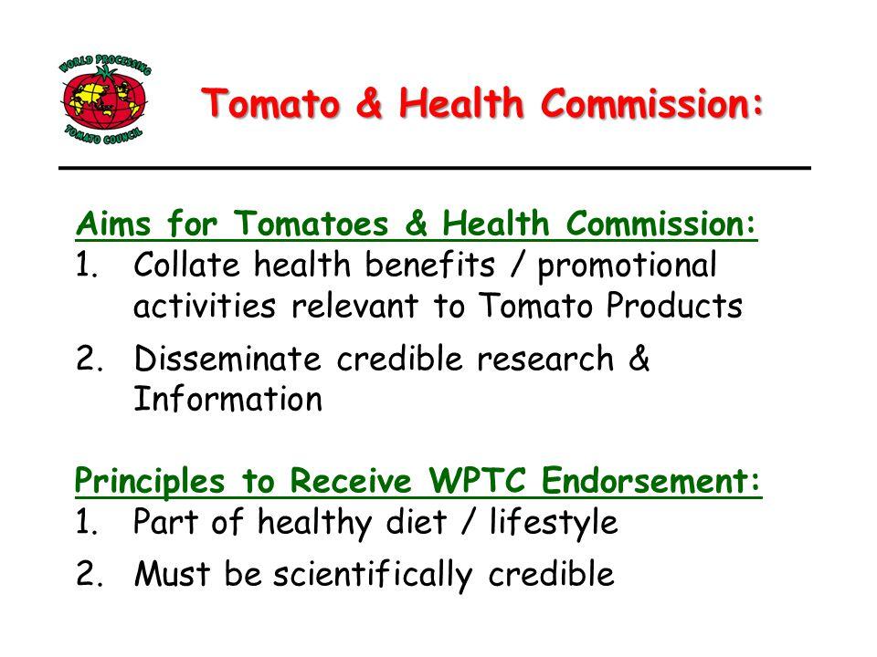 Lycopene ADI Tomato & Health Topics Health Claims LYCOCARD Update Tomato Product Wellness Council Commission Presentation: Commission Presentation: