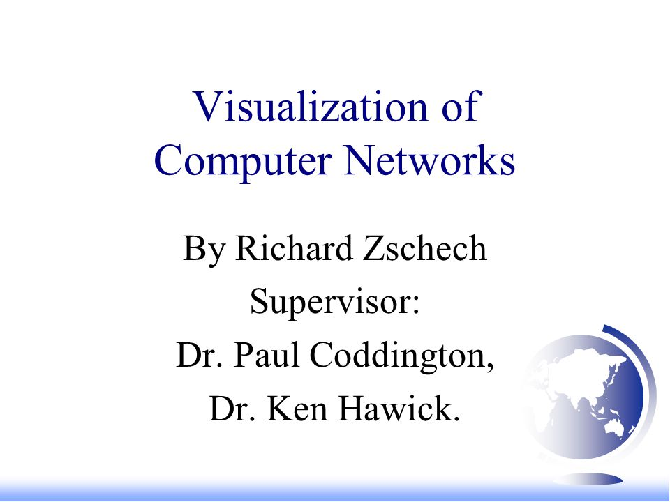 Motivations F Computer visualisation techniques offer the opportunity to display complicated sets of information in an easy to view and easy to understand manner.