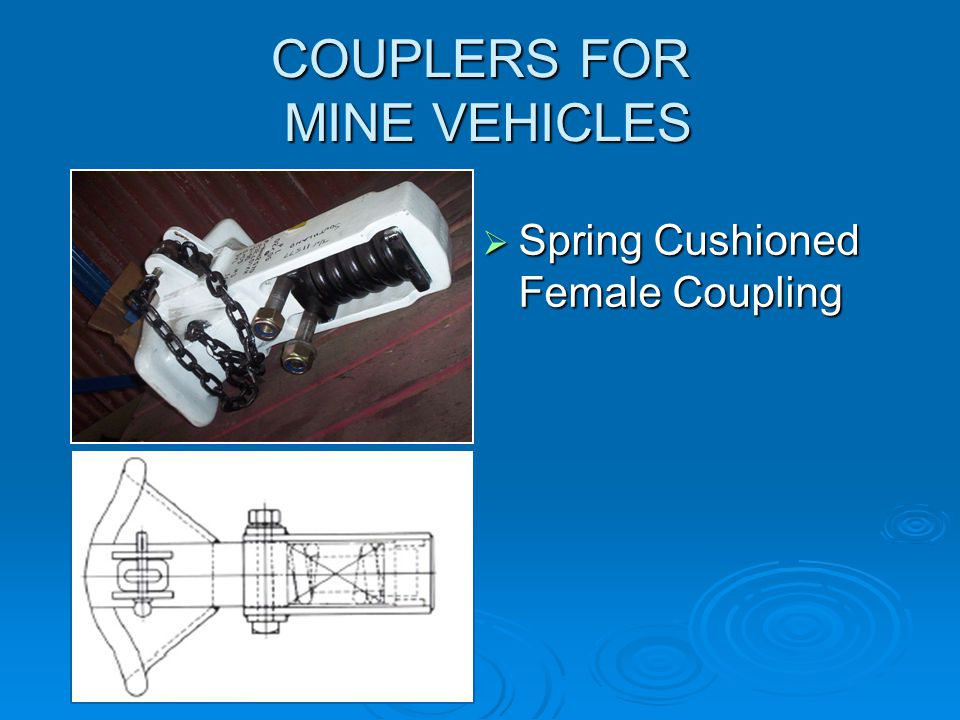 COUPLERS FOR MINE VEHICLES  Rigid Male Towbar