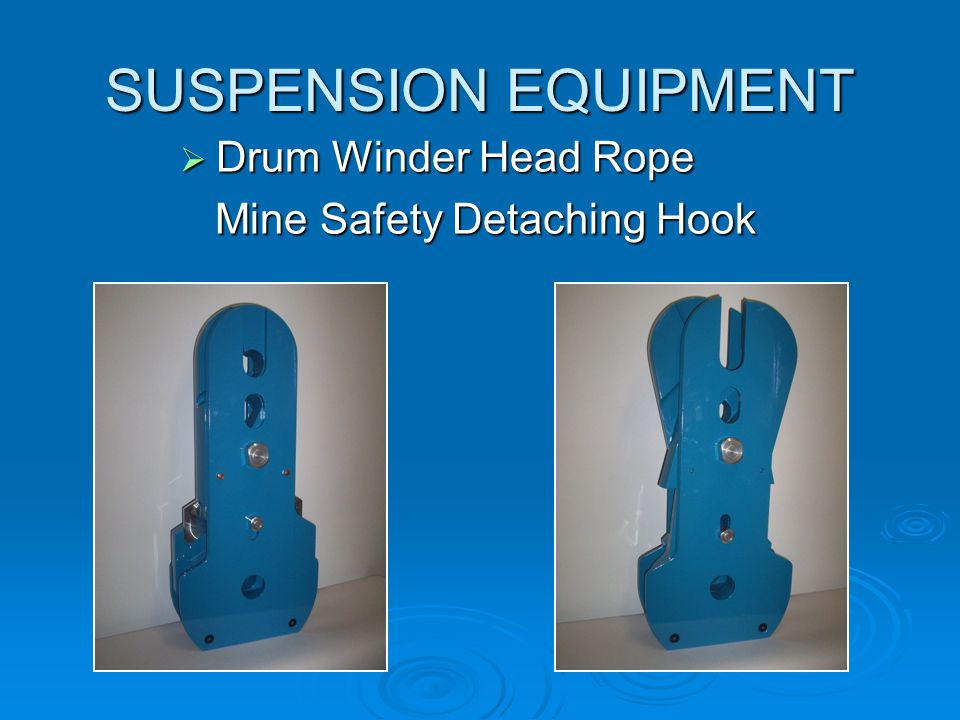 SUSPENSION EQUIPMENT  Friction Winder Head Rope Thimble Type Capel