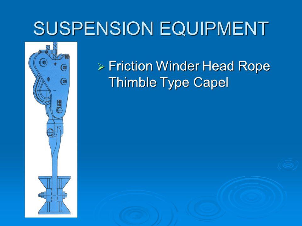 SUSPENSION EQUIPMENT  Friction Winder Balance Rope Thimble Thimble