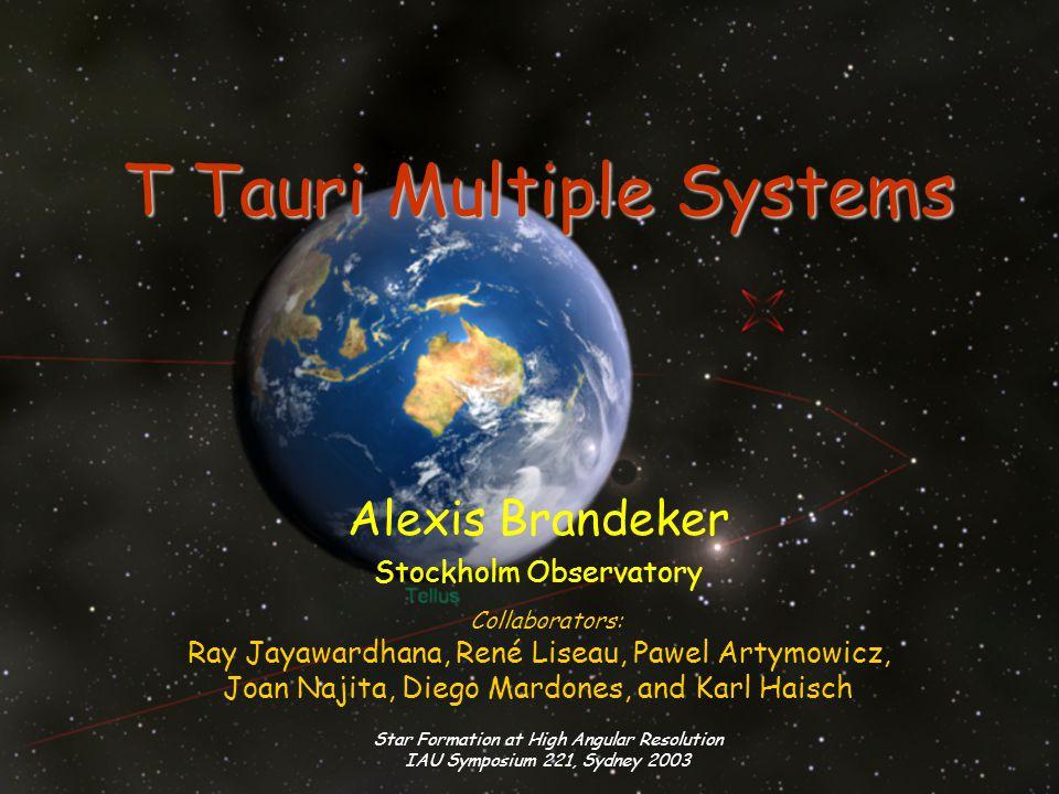 Star Formation at High Angular Resolution IAU Symposium 221, Sydney 2003 Why study multiple T Tauri stars.