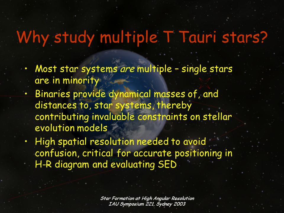Star Formation at High Angular Resolution IAU Symposium 221, Sydney 2003 Multiple? 1 Examples: