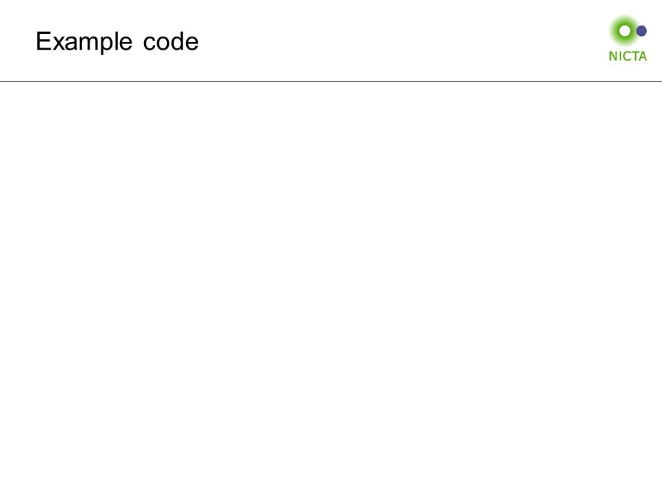 Example code