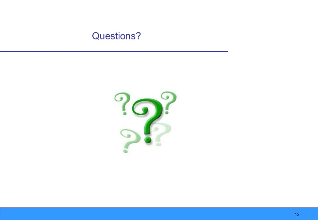 15 Questions?