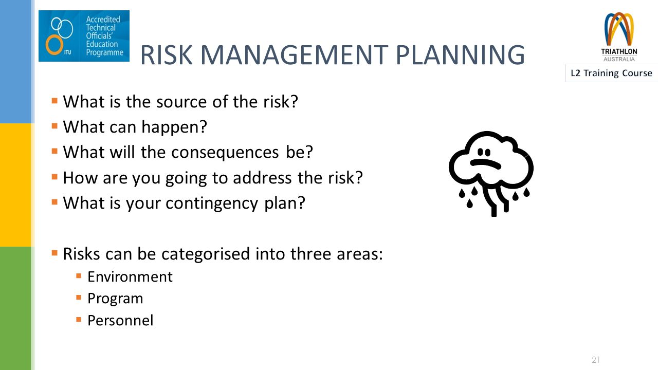 RISK MANAGEMENT PLANNING  What is the source of the risk.