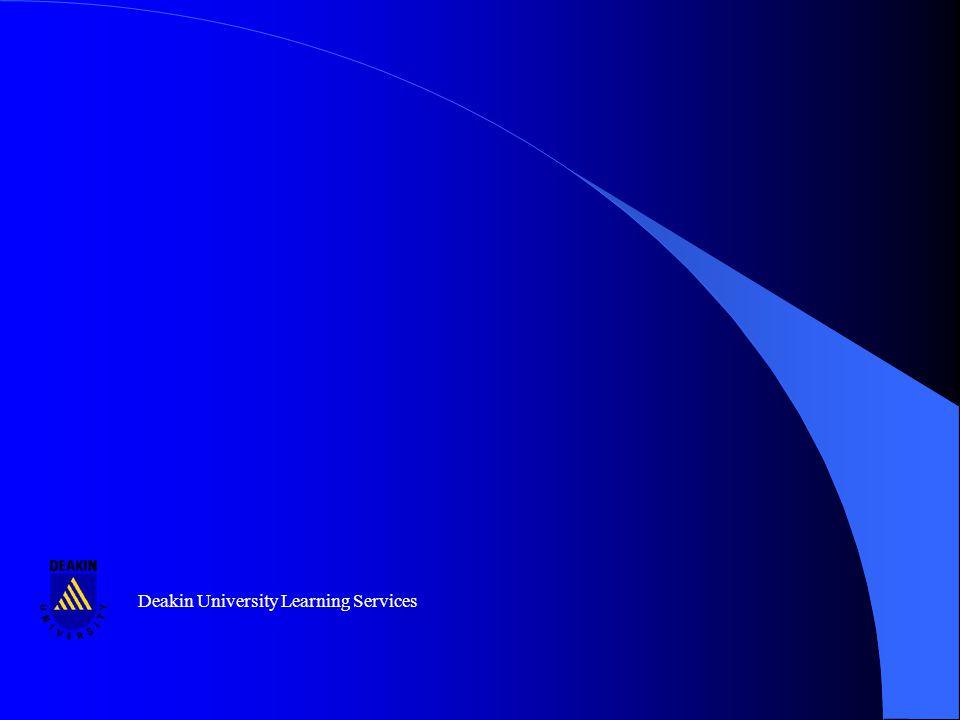 Deakin University Learning Services