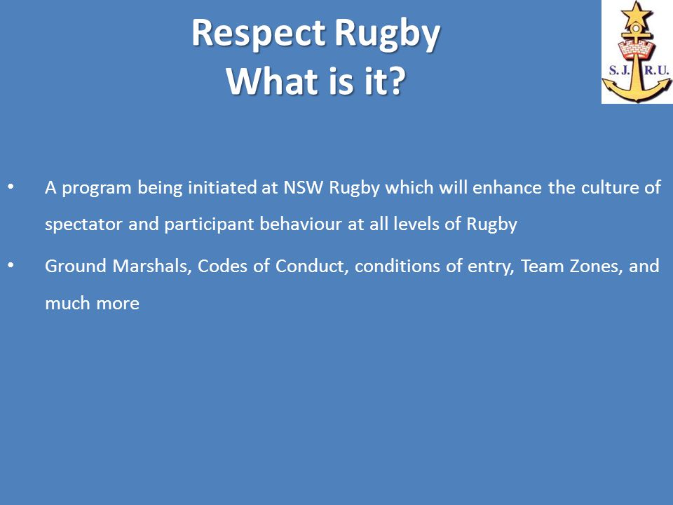Respect Rugby What is it.
