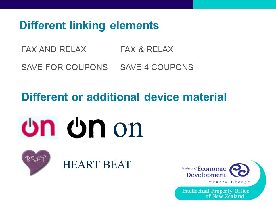 Different linking elements on HEART BEAT FAX AND RELAXFAX & RELAX SAVE FOR COUPONSSAVE 4 COUPONS Different or additional device material