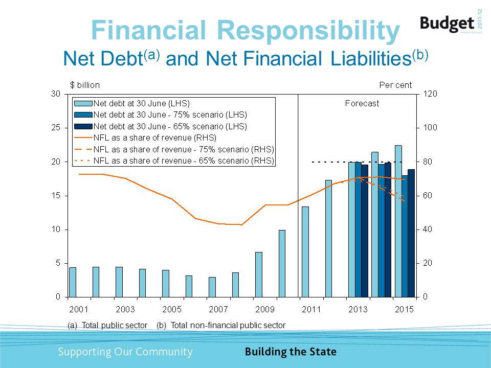 Financial Responsibility Net Debt (a) and Net Financial Liabilities (b) (a) Total public sector (b) Total non-financial public sector