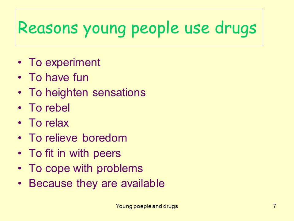 Young people and drugs18 Drug prevention: Quality learning and teaching Provide a curriculum that engages and meets the needs of students Ensure drug education is taught within the PDHPE curriculum K–10 and Crossroads 11–12 Teach drug education in a planned, sequential and developmentally appropriate manner
