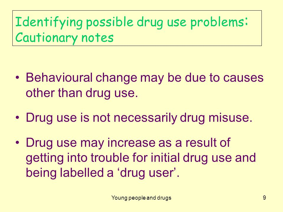 Young people and drugs10 Confidentiality Issues of confidentiality can arise when teachers discuss possible drug use with students.
