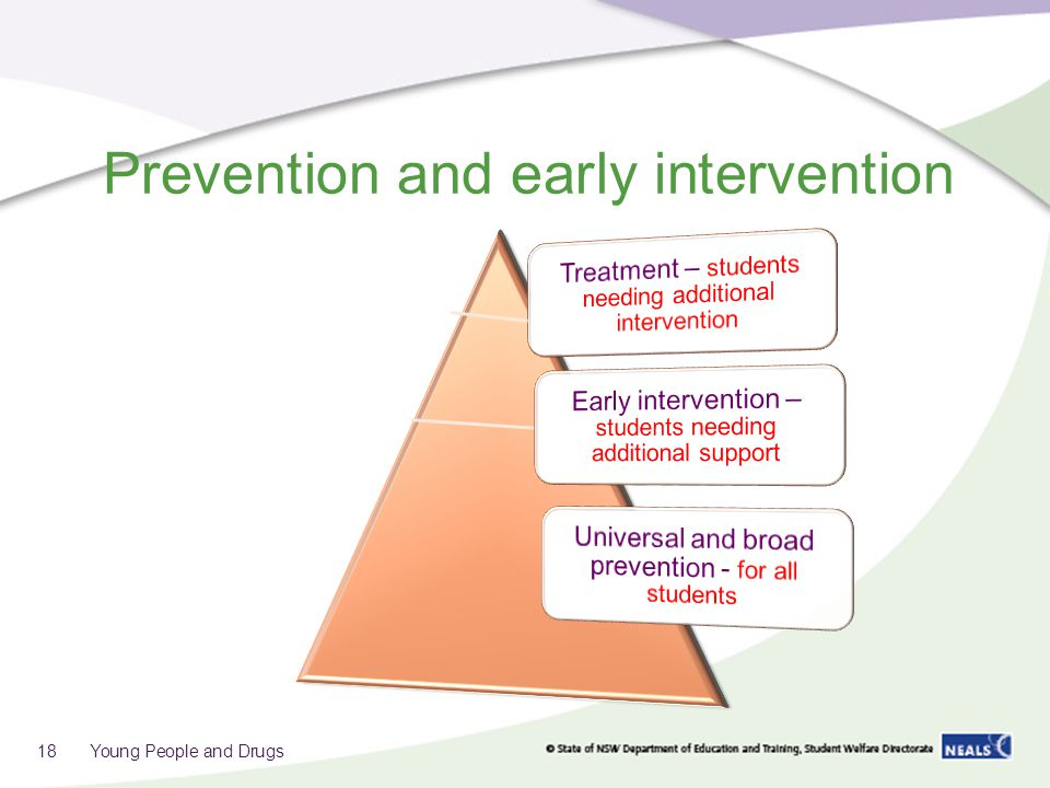 Prevention and early intervention 18 Young People and Drugs
