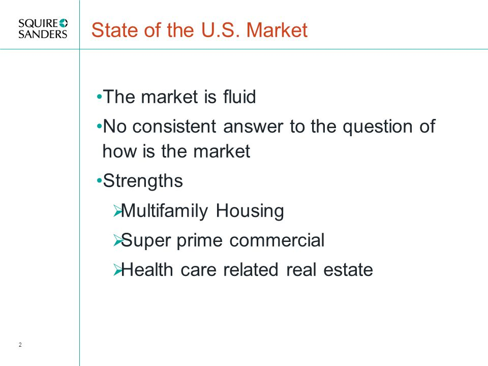 State of the Market Weak spots  Home Building  Suburban Office  Unanchored Retail  Hospitality 3