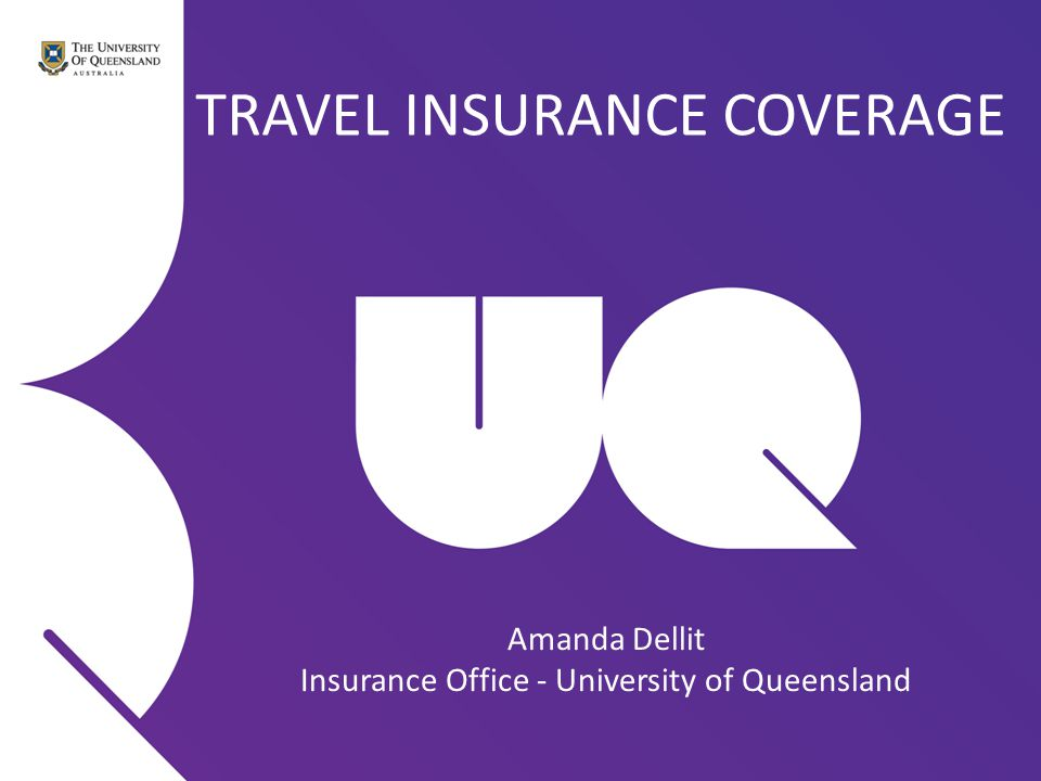 PRE-EXISTING MEDICAL CONDITIONS If you have a pre-existing medical condition which is not on the list in the Student Travel Insurance Summary, then please have your Doctor complete a Fit to Travel Report (available from our webpage) within 30 days of your journey and email to insurance@uq.edu.au 7 days prior to departure.insurance@uq.edu.au Please note that the insurer will not be liable for any expenses: incurred where a Journey is undertaken against the advice of a Doctor or when the Covered Person is unfit to travel or if the purpose of the Journey is for the Covered Person to seek medical attention for a pre- existing medical condition.