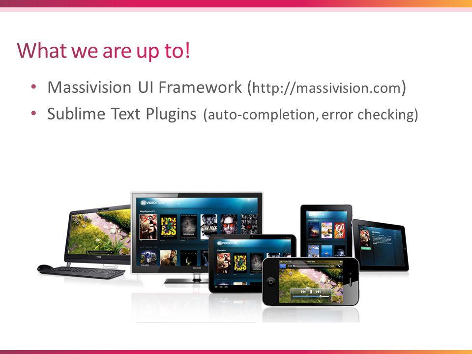 Massivision UI Framework ( http://massivision.com ) Sublime Text Plugins (auto-completion, error checking)