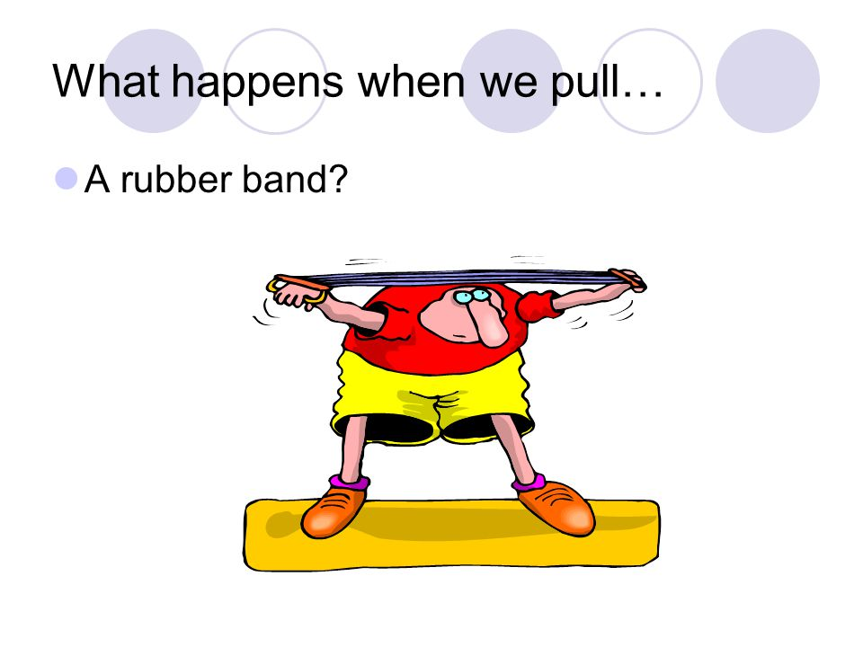 What happens when we pull… A rubber band