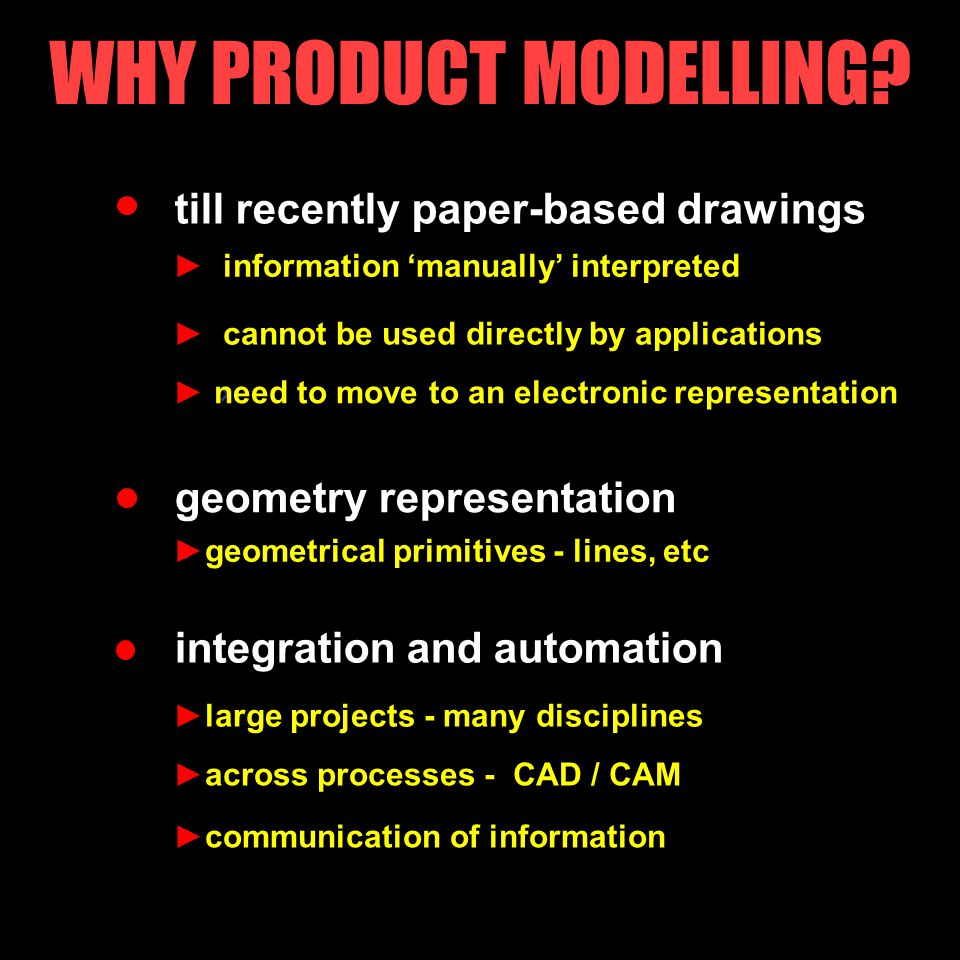 verification APPLICATIONS REQUIRING PRODUCT MODELS analyses selecting components from products base communicating between disciplines justification ► checking that design complies, e.g.