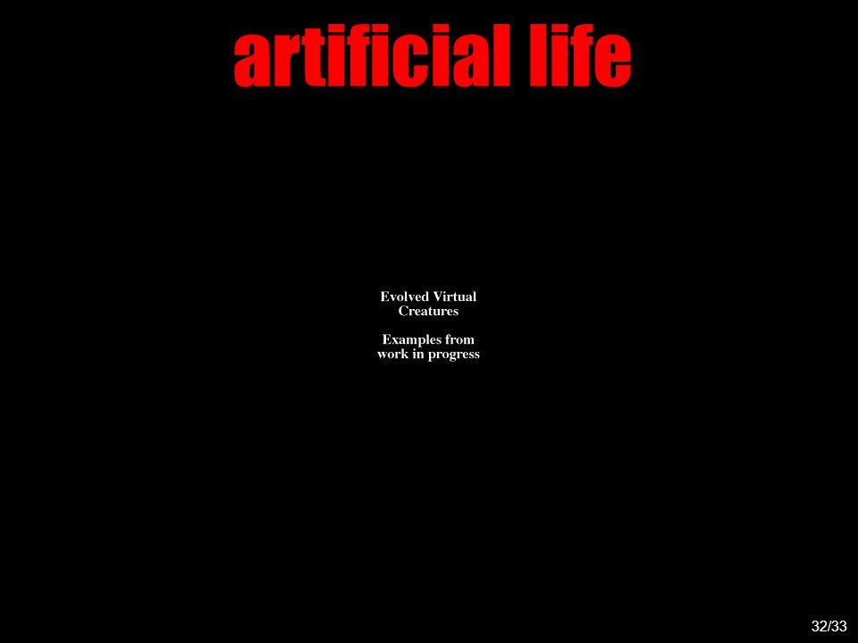 artificial life 32/33