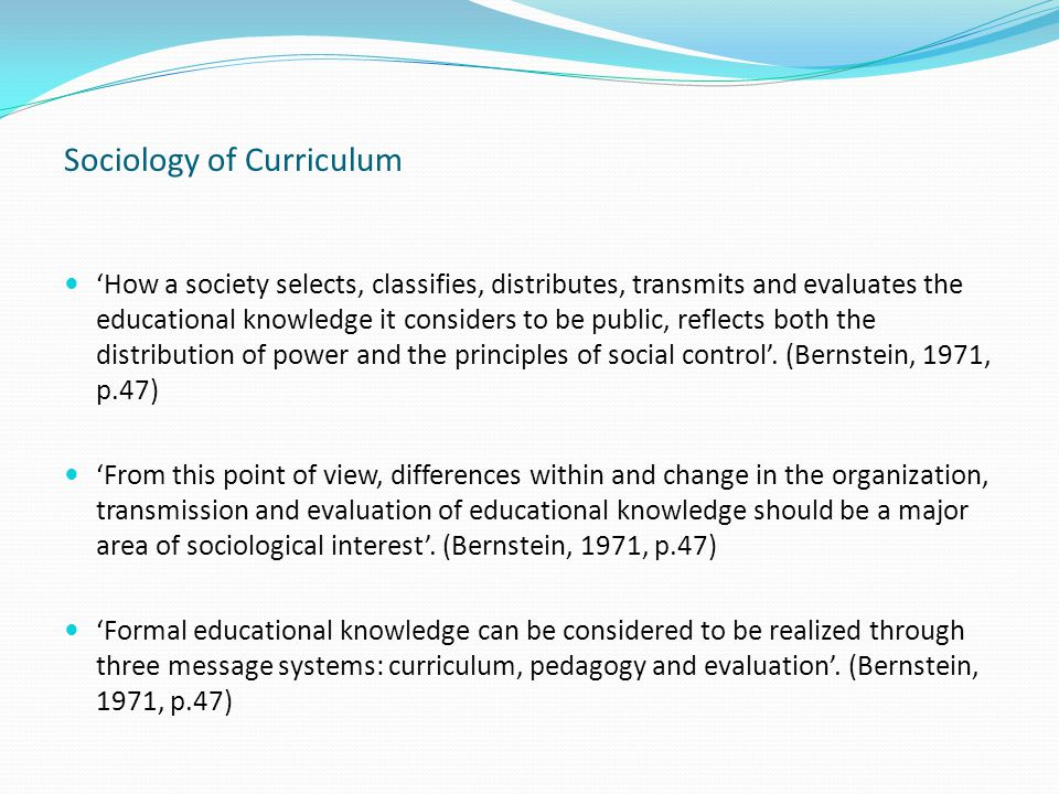 Research: Two Major Contributing Factors to Student Learning and Achievement Out of school: SES background of students: Bourdieu – 'cultural capital' and Coleman et al.