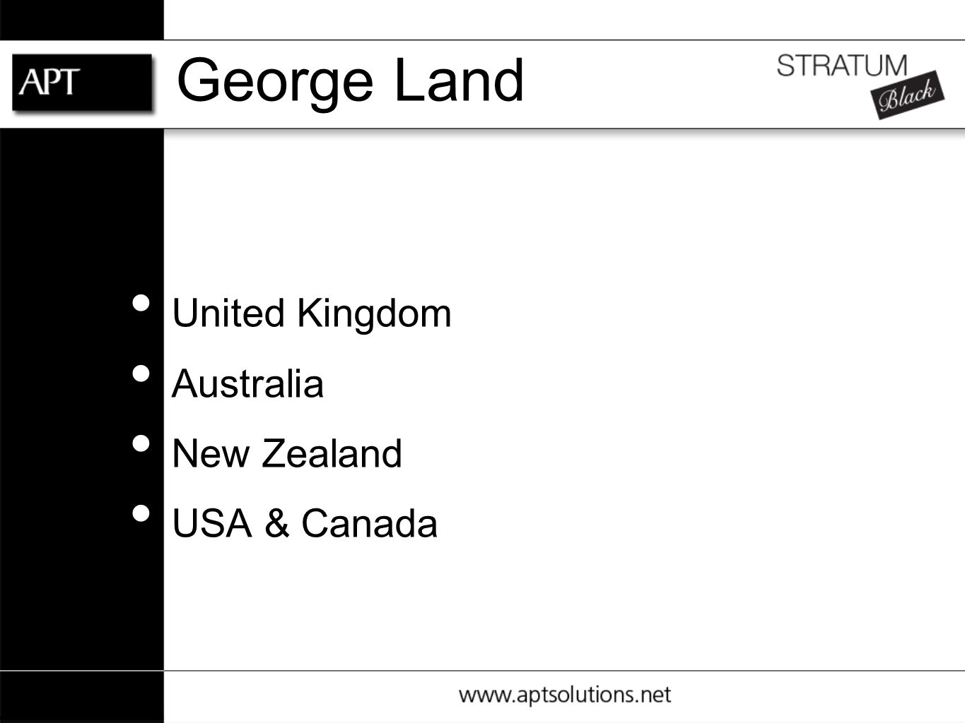 United Kingdom Australia New Zealand USA & Canada