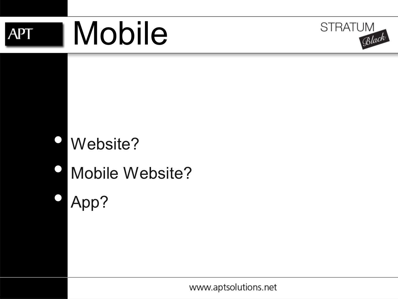Mobile Website Mobile Website App