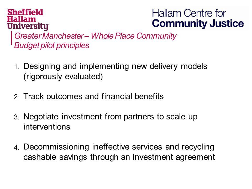 Greater Manchester – Whole Place Community Budget pilot principles 1.